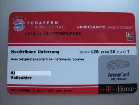 Dauerkarte Bayern